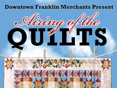 airing of the quilts festival franklin nc