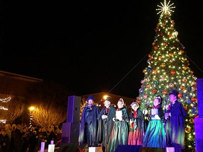 tree lighting ceremony franklin north carolina winter wonderland