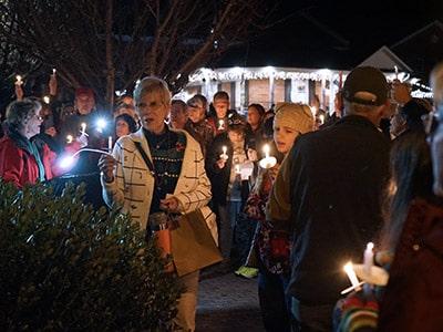 candlelight service winter wonderland franklin nc