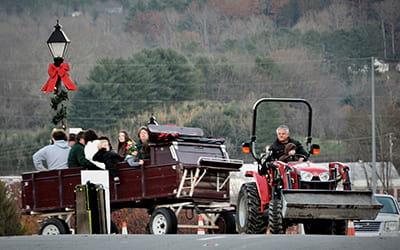 free wagon rides winter wonderland franklin nc